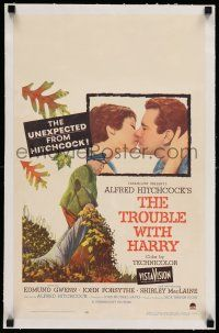8b078 TROUBLE WITH HARRY linen WC '55 Alfred Hitchcock, Edmund Gwenn, Shirley MacLaine, Forsythe