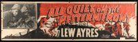 8m006 ALL QUIET ON THE WESTERN FRONT paper banner R50 Lew Ayres, WWII classic, different art!