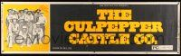 8m026 CULPEPPER CATTLE CO. paper banner '72 Gary Grimes, cool old-time cast portrait!
