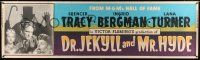 8m032 DR. JEKYLL & MR. HYDE paper banner R54 Spencer Tracy, sexy Lana Turner, Ingrid Bergman