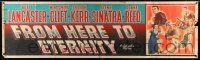 8m040 FROM HERE TO ETERNITY paper banner '53 Burt Lancaster, Kerr, Sinatra, Donna Reed, Clift