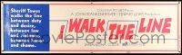 8m060 I WALK THE LINE paper banner '70 Gregory Peck, Tuesday Weld, directed by John Frankenheimer!