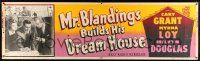 8m084 MR. BLANDINGS BUILDS HIS DREAM HOUSE paper banner R54 Cary Grant, Myrna Loy & Melvyn Douglas!
