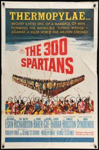 8p005 300 SPARTANS 1sh '62 Richard Egan, the mighty battle of Thermopylae!