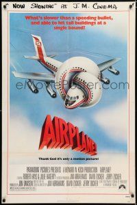 8p021 AIRPLANE 1sh '80 classic zany parody by Jim Abrahams, Flying High!