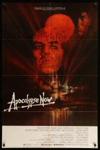 8p041 APOCALYPSE NOW 1sh '79 Francis Ford Coppola, image of choppers over jungle!