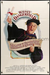 8p054 BACK TO SCHOOL 1sh '86 Rodney Dangerfield goes to college with his son!
