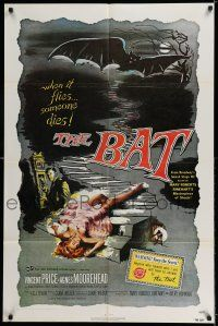 8p063 BAT 1sh R80s great horror art of Vincent Price & sexy fallen girl!