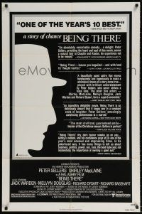 8p071 BEING THERE reviews 1sh '80 outline of Peter Sellers, directed by Hal Ashby!