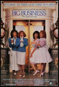 8p079 BIG BUSINESS 1sh '88 great image of identical twins Bette Midler & Lily Tomlin!