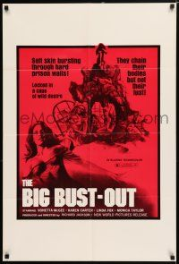 8p080 BIG BUST-OUT 1sh '72 Vonetta McGee, locked in a cage of wild desire!