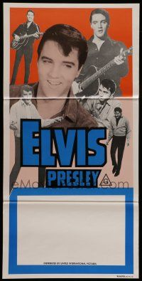 8r738 ELVIS PRESLEY STOCK Aust daybill 70s six great images of the rock  roll king performing