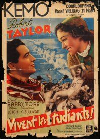 8t030 YANK AT OXFORD pre-war Belgian '38 handsome Robert Taylor & sexy young Maureen O'Sullivan!
