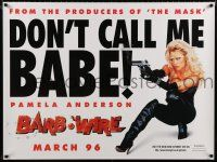 8t076 BARB-WIRE teaser DS British quad '96 sexiest comic book hero Pamela Anderson!