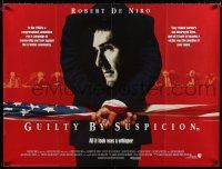 8t081 GUILTY BY SUSPICION British quad '91 great close-up of Robert De Niro on man's back!