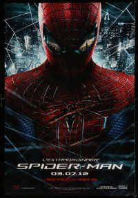 8t040 AMAZING SPIDER-MAN teaser DS Canadian 1sh '12 Andrew Garfield over city!