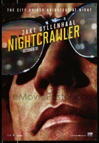 8t049 NIGHTCRAWLER teaser Canadian 1sh '14 cool image of Jake Gyllenhaal with sunglasses!