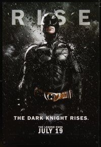 8t009 DARK KNIGHT RISES teaser DS Singapore poster '12 Christian Bale as Batman, rise!
