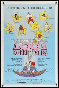 8w004 1001 RABBIT TALES 1sh '82 Bugs Bunny, Daffy Duck, Porky Pig, Chuck Jones cartoon!