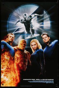 8w003 4: RISE OF THE SILVER SURFER style B DS 1sh '07 Jessica Alba, Chiklis, Chris Evans!