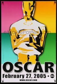 8w012 77th ANNUAL ACADEMY AWARDS 1sh '05 Brett Davidson artwork of the Oscar!