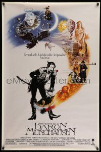 8w017 ADVENTURES OF BARON MUNCHAUSEN int'l 1sh '88 directed by Terry Gilliam, Casaro art!