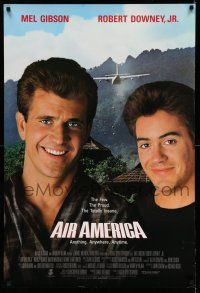 8w024 AIR AMERICA int'l 1sh '90 Mel Gibson & Robert Downey Jr. are flying for the CIA!