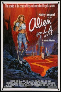 8w027 ALIEN FROM LA 1sh '88 artwork of sexy Kathy Ireland by Larry Salk!