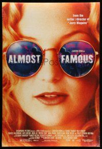 8w030 ALMOST FAMOUS DS 1sh '00 Cameron Crowe directed, pretty Kate Hudson!