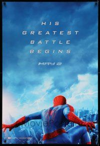 8w035 AMAZING SPIDER-MAN 2 teaser 1sh '14 Andrew Garfield, his greatest battle begins!