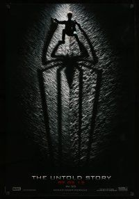 8w032 AMAZING SPIDER-MAN teaser DS 1sh '12 shadowy image of Andrew Garfield climbing wall!