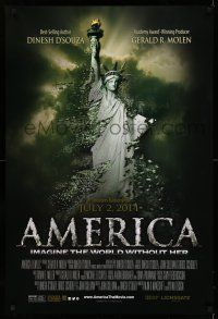 8w036 AMERICA: IMAGINE THE WORLD WITHOUT HER advance DS 1sh '14 Statue of Liberty crumbling!