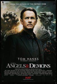 8w040 ANGELS & DEMONS int'l advance DS 1sh '09 cool image of Tom Hanks!