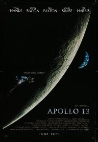 8w042 APOLLO 13 advance 1sh '95 Ron Howard, Tom Hanks, Moon orbit, Houston, we have a problem!