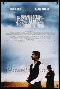 8w044 ASSASSINATION OF JESSE JAMES advance DS 1sh '07 Brad Pitt, Casey Affleck, outlaws!