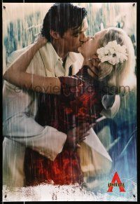 8w049 AUSTRALIA style C teaser DS 1sh '08 Hugh Jackman & Nicole Kidman kissing in the rain!
