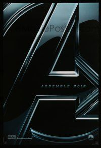 8w050 AVENGERS teaser DS 1sh '12 Robert Downey Jr & The Hulk, assemble 2012!