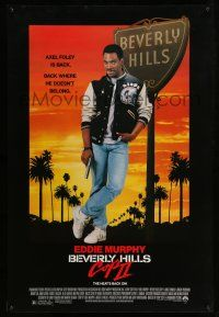 8w069 BEVERLY HILLS COP II 1sh '87 Eddie Murphy is back as Axel Foley, where he doesn't belong!