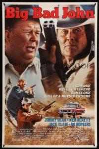 8w073 BIG BAD JOHN 1sh '90 Ned Beatty, Jimmy Dean with four barreled shotgun!