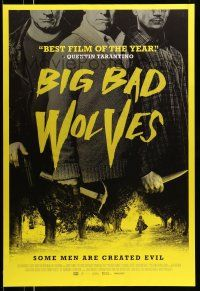 8w074 BIG BAD WOLVES DS 1sh '13 Lior Ashkenazi, Tzachi Grad, Keinan, some men are created evil!