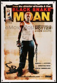 8w080 BLACK SNAKE MOAN teaser DS 1sh '07 full-length Samuel L. Jackson in chains!