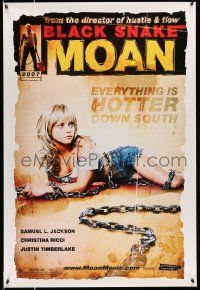 8w081 BLACK SNAKE MOAN teaser DS 1sh '07 super sexy Christina Ricci in chains!
