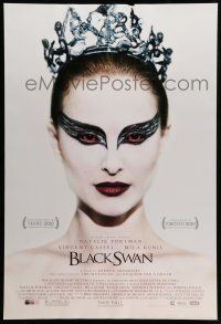 8w082 BLACK SWAN advance 1sh '10 wonderful image of ballet dancer Natalie Portman!