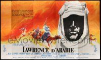 8y004 LAWRENCE OF ARABIA French 124x208 '63 Kerfyser art of Peter O'Toole silhouette & on camel!