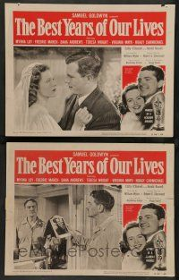 8z894 BEST YEARS OF OUR LIVES 2 LCs R54 William Wyler, Virginia Mayo, Dana Andrews, Harold Russell