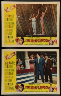 8z895 BIG CIRCUS 2 LCs '59 images of Victor Mature, Red Buttons, Rhonda Fleming, Kathryn Grant!