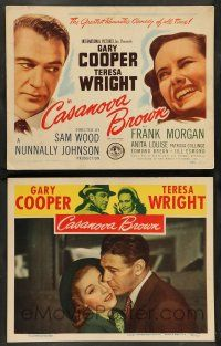 8z904 CASANOVA BROWN 2 LCs '44 Gary Cooper loves Teresa Wright, w/ title card!