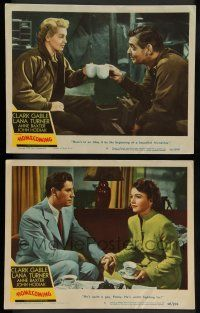 8z938 HOMECOMING 2 LCs '48 Clark Gable, Lana Turner, Anne Baxter & John Hodiak in World War II!