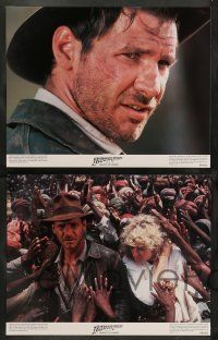 8z248 INDIANA JONES & THE TEMPLE OF DOOM 8 color 11x14 stills '84 Harrison Ford, Kate Capshaw!