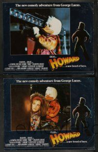 8z239 HOWARD THE DUCK 8 English LCs '86 George Lucas sci-fi comedy, Lea Thompson, Jeffrey Jones!